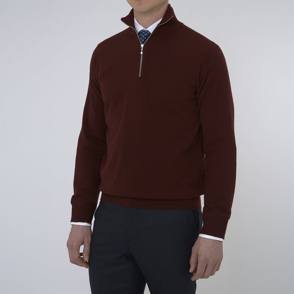 Port Cashmere Half-Zip Jumper