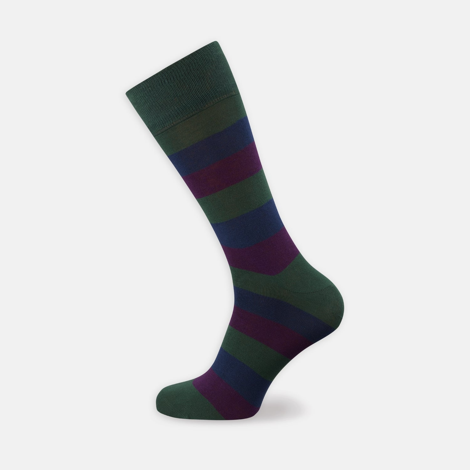 Plum, Forest Green and Navy Cotton Mix Short Socks