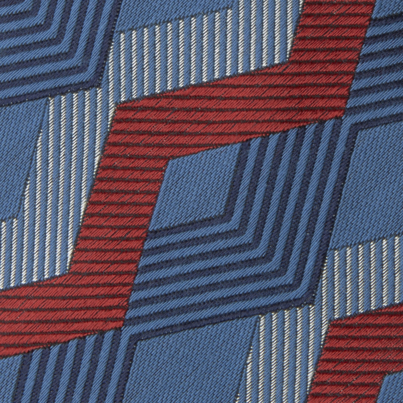 Blue and Red Zig Zag Silk Tie