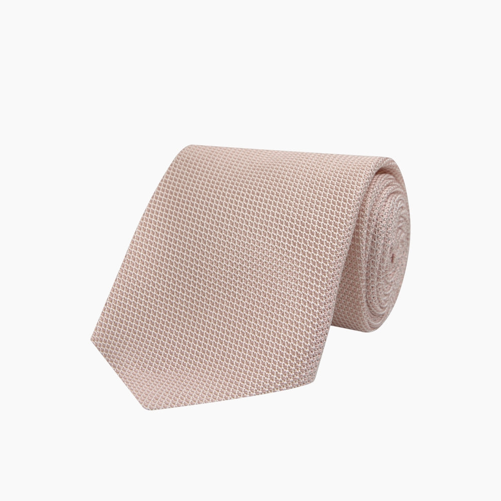 Light Pink Grenadine Silk Tie