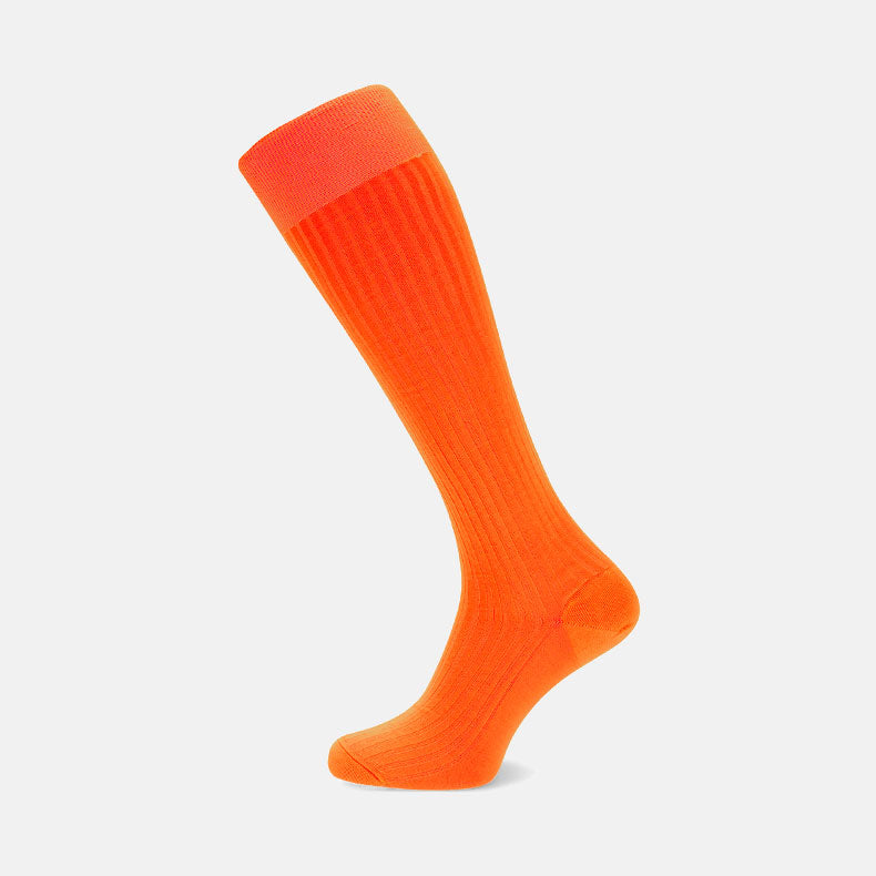 Orange Long Cotton Socks