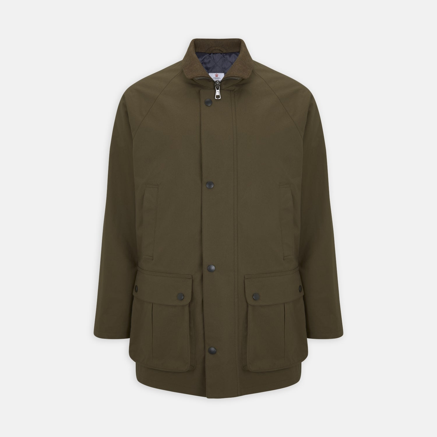 Dark Green Dry Wax Cotton Field Coat
