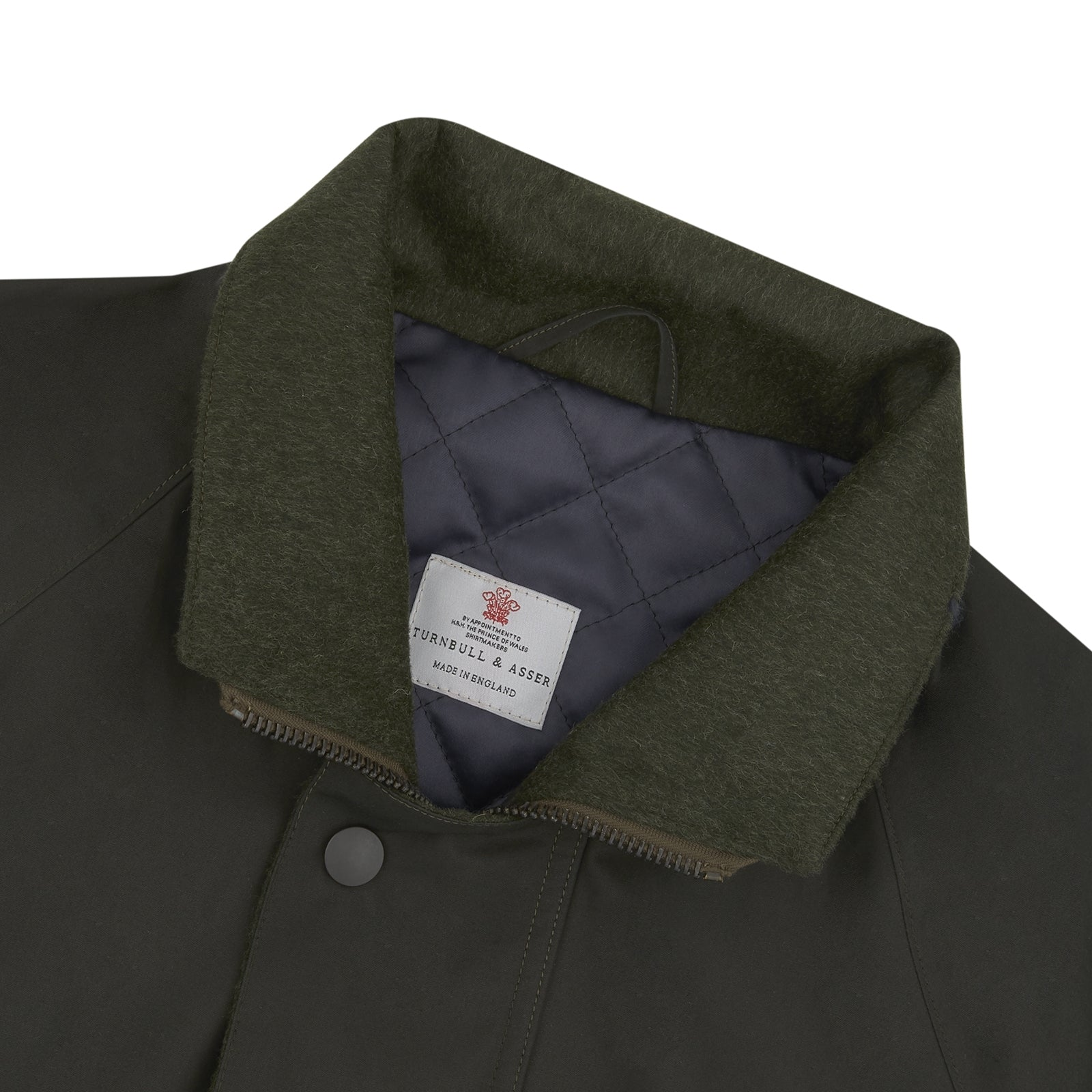 Dark Green Waxed Cotton Field Coat