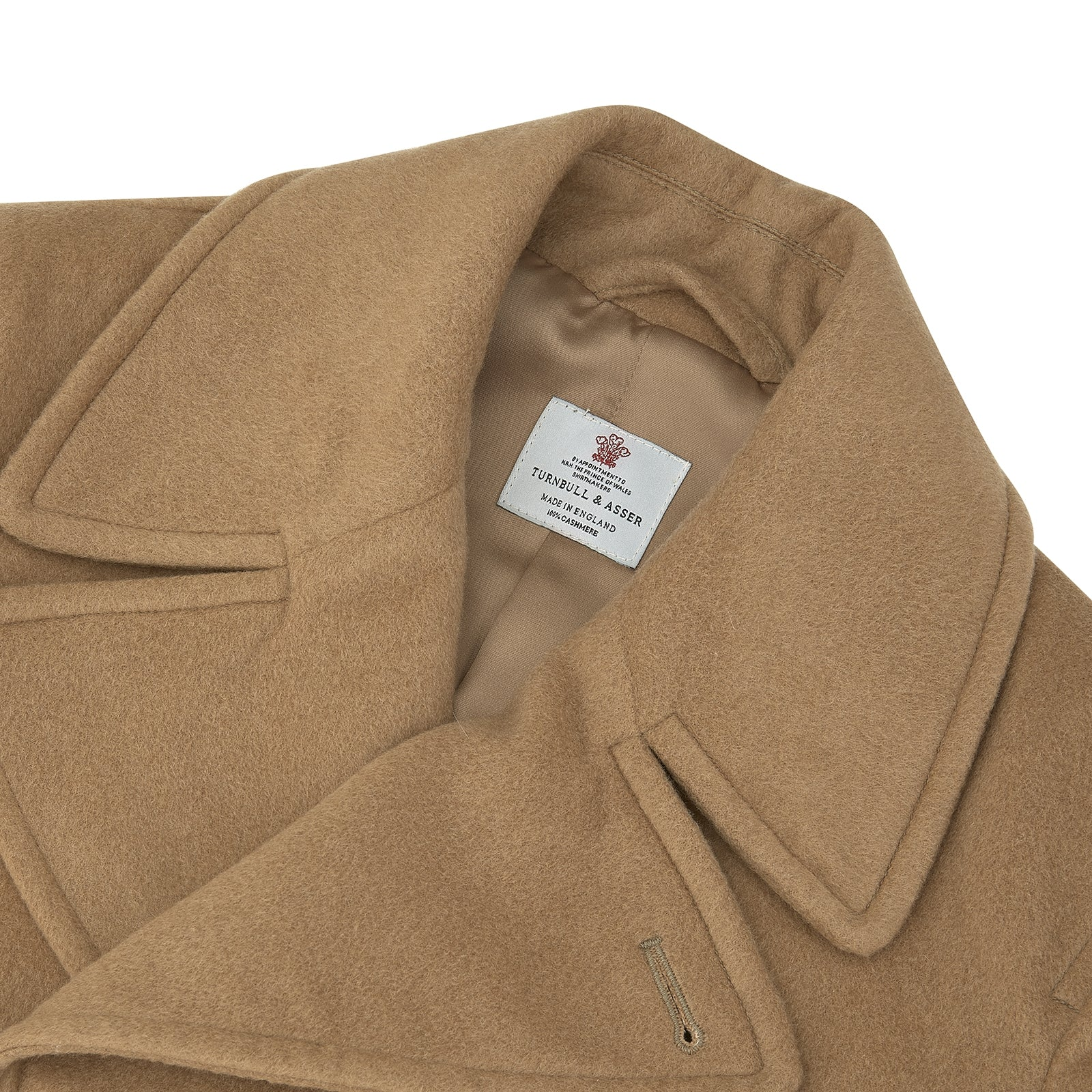 Camel Cashmere Peacoat