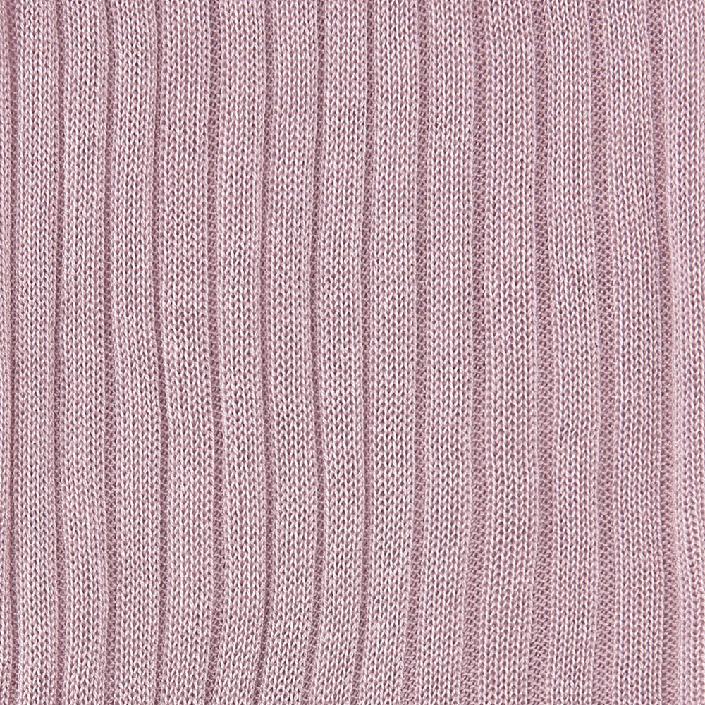 Dusky Pink Short Pure Cotton Socks