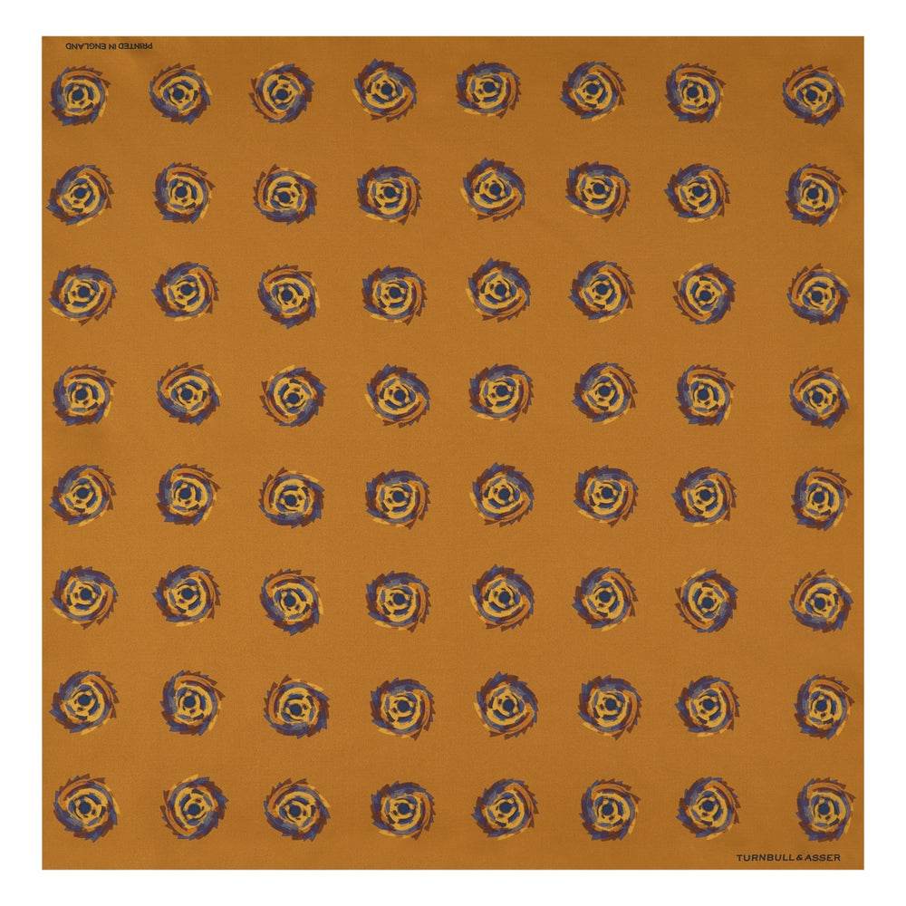 Yellow Starry Spots Silk Pocket Square