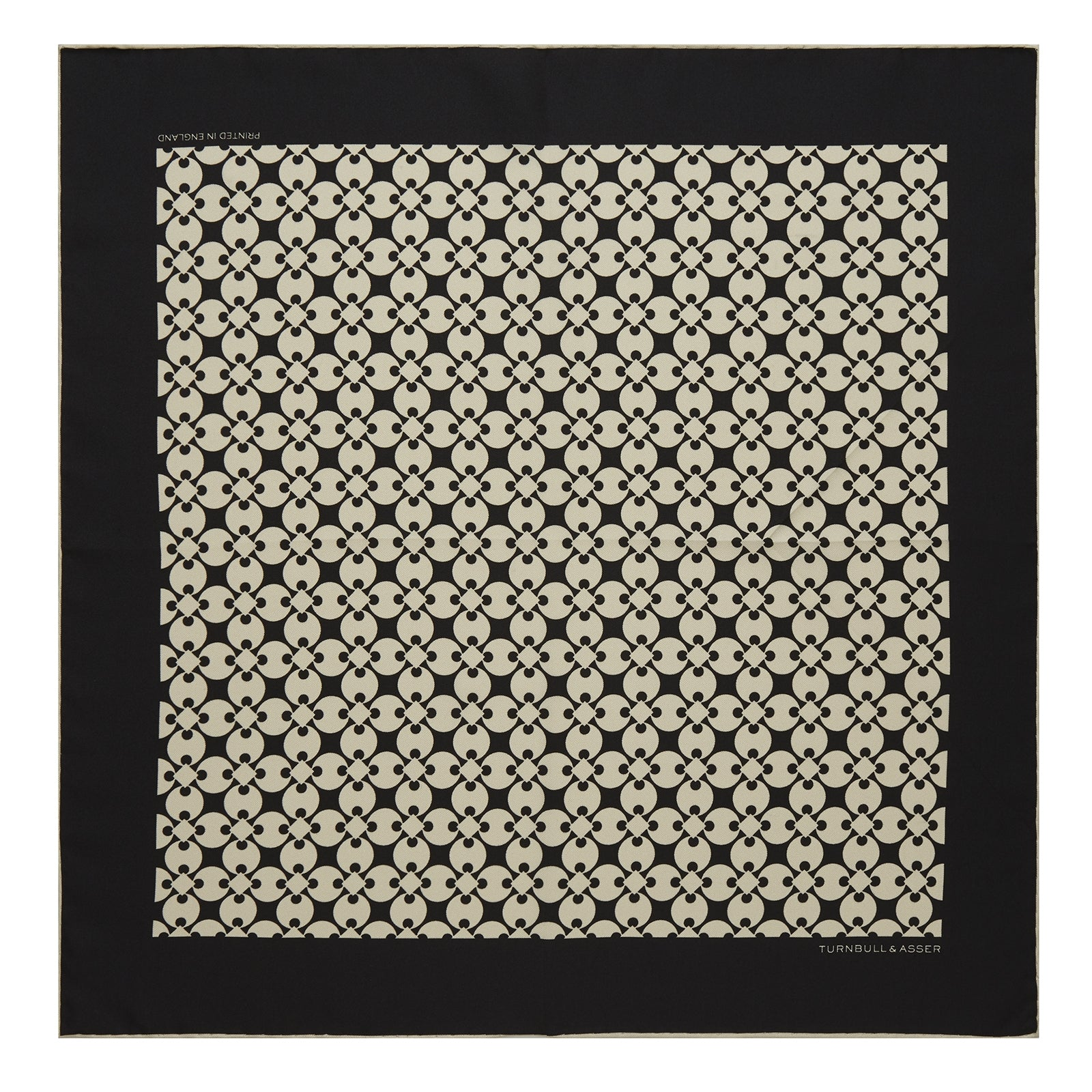 Black and White Vanguard Spot Silk Pocket Square