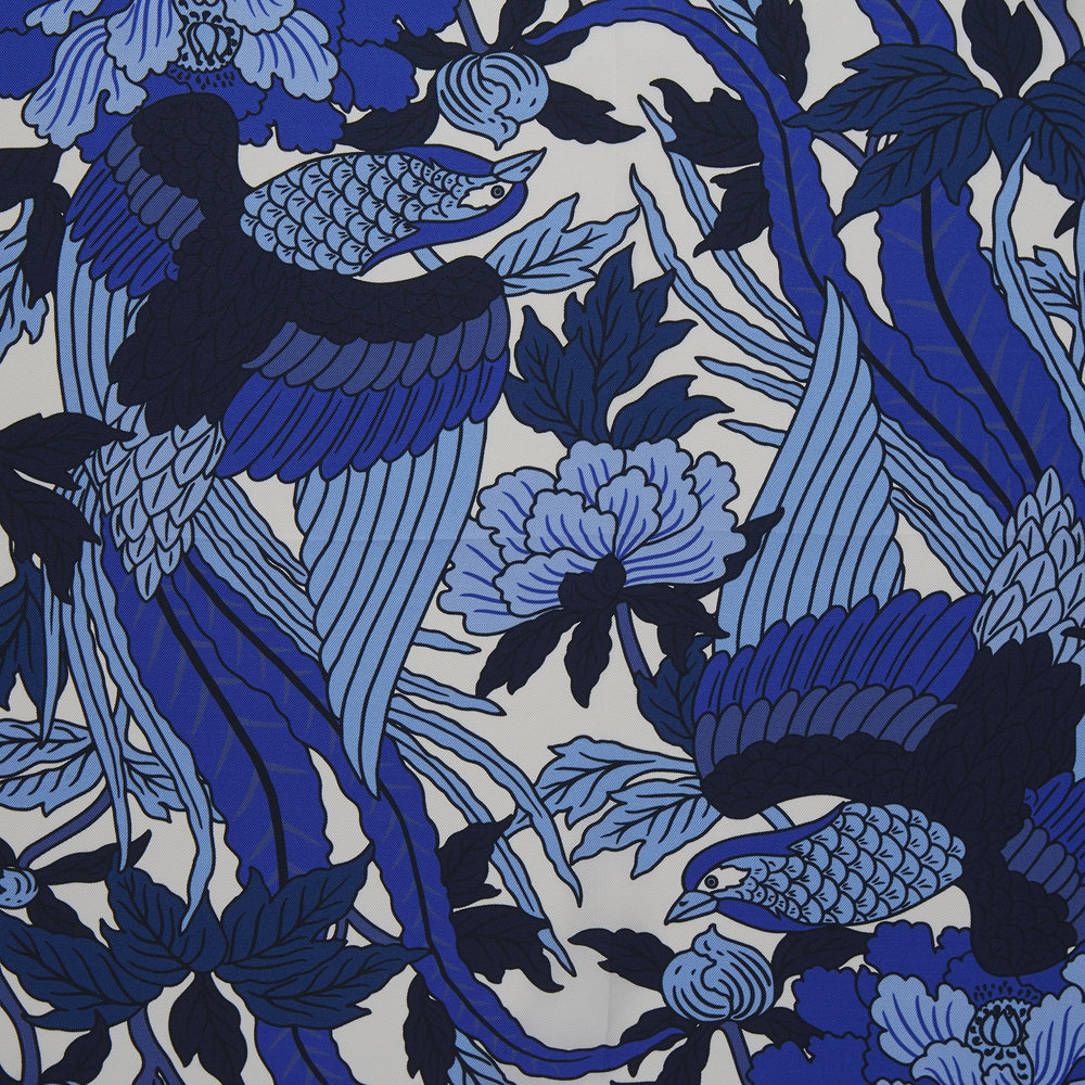 Blue Paradise Silk Pocket Square