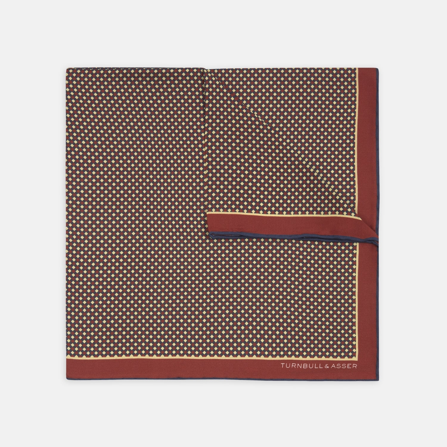 Red Rattan Silk Pocket Square