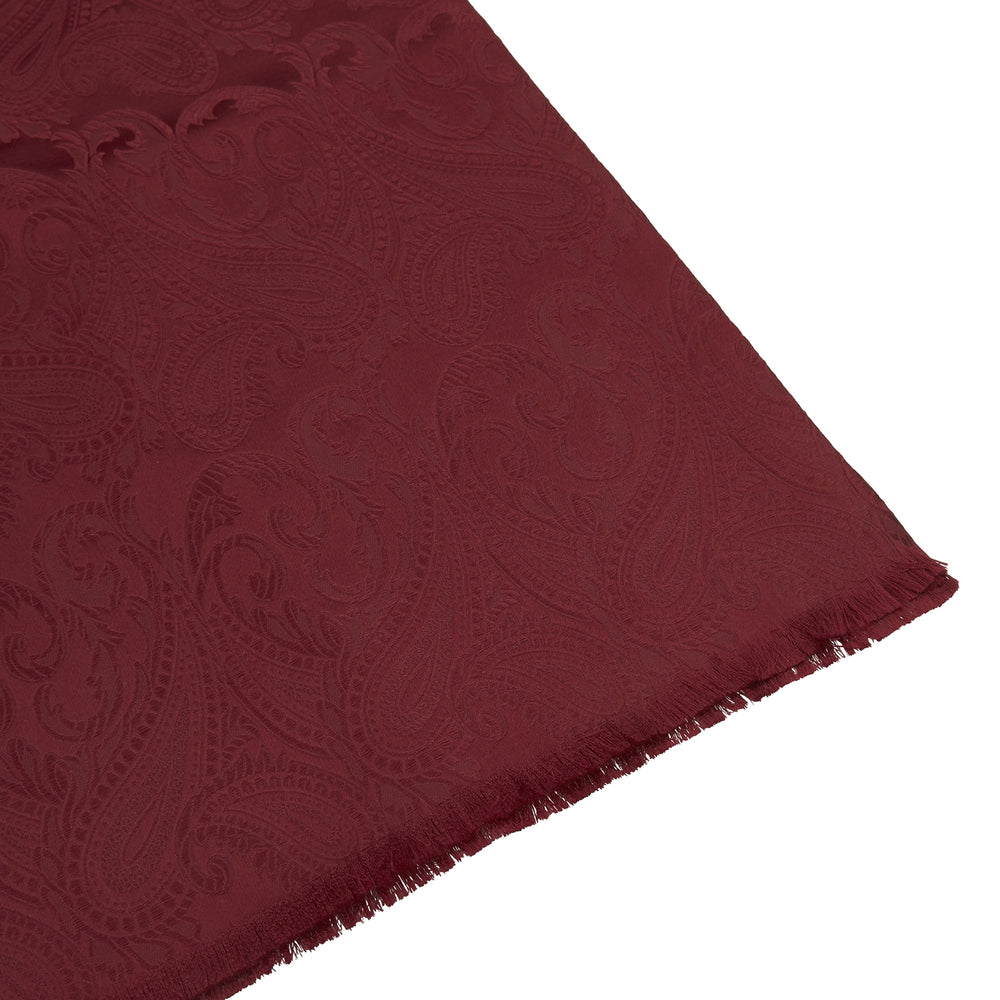 Burgundy House Paisley Silk Scarf