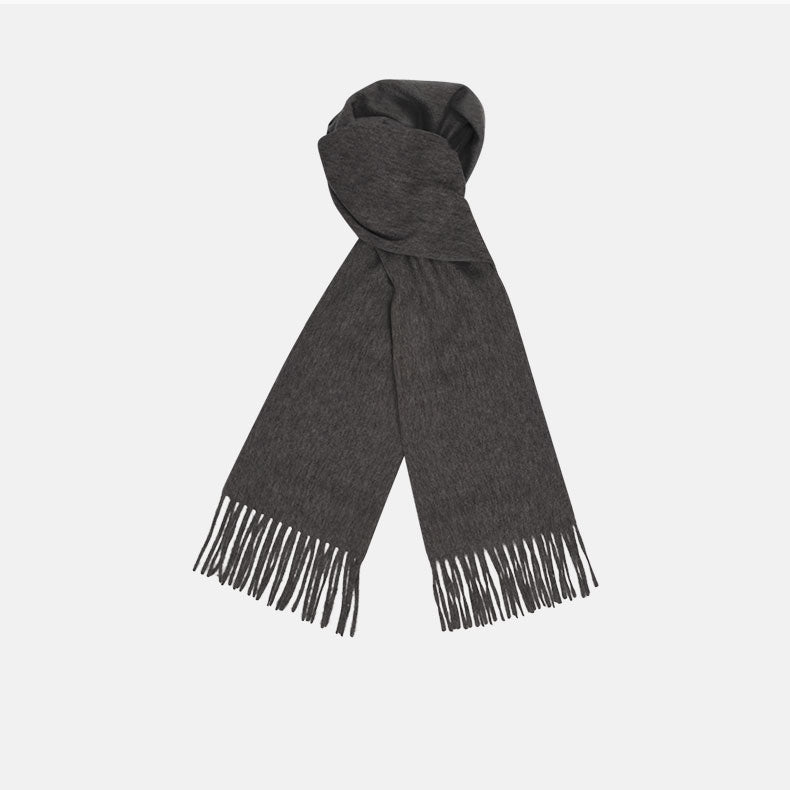 Dark Grey Pure Cashmere Scarf