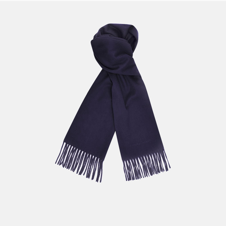 Navy Pure Cashmere Scarf