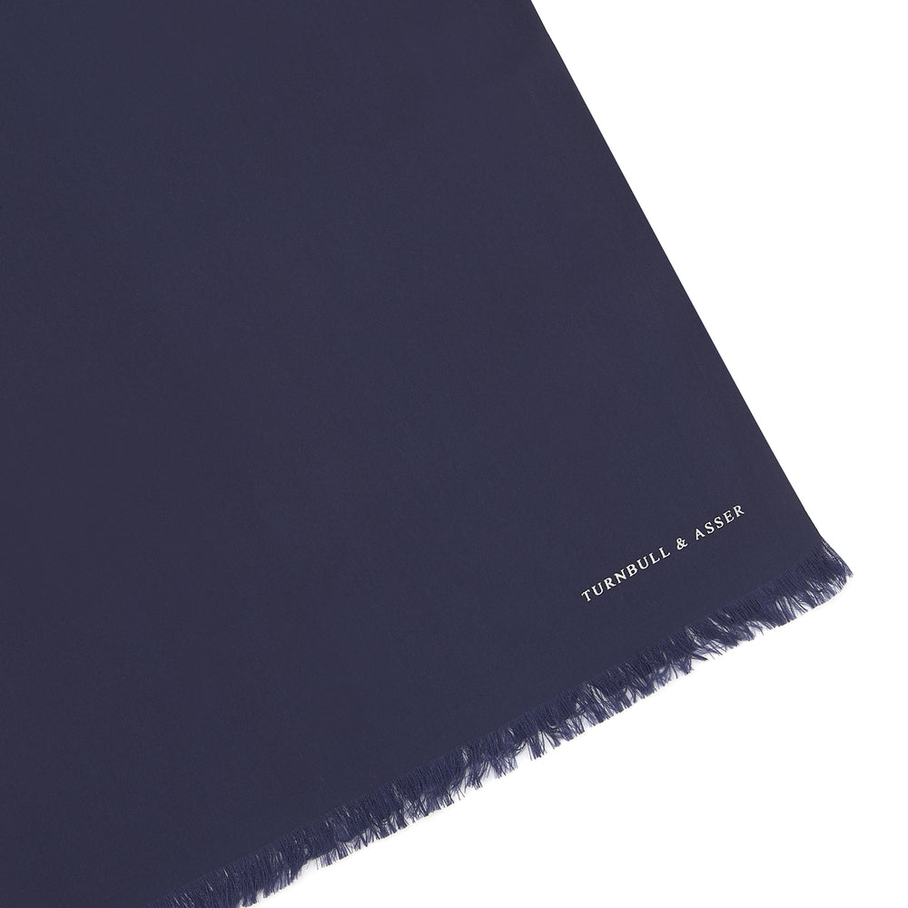 Plain Navy Silk Scarf