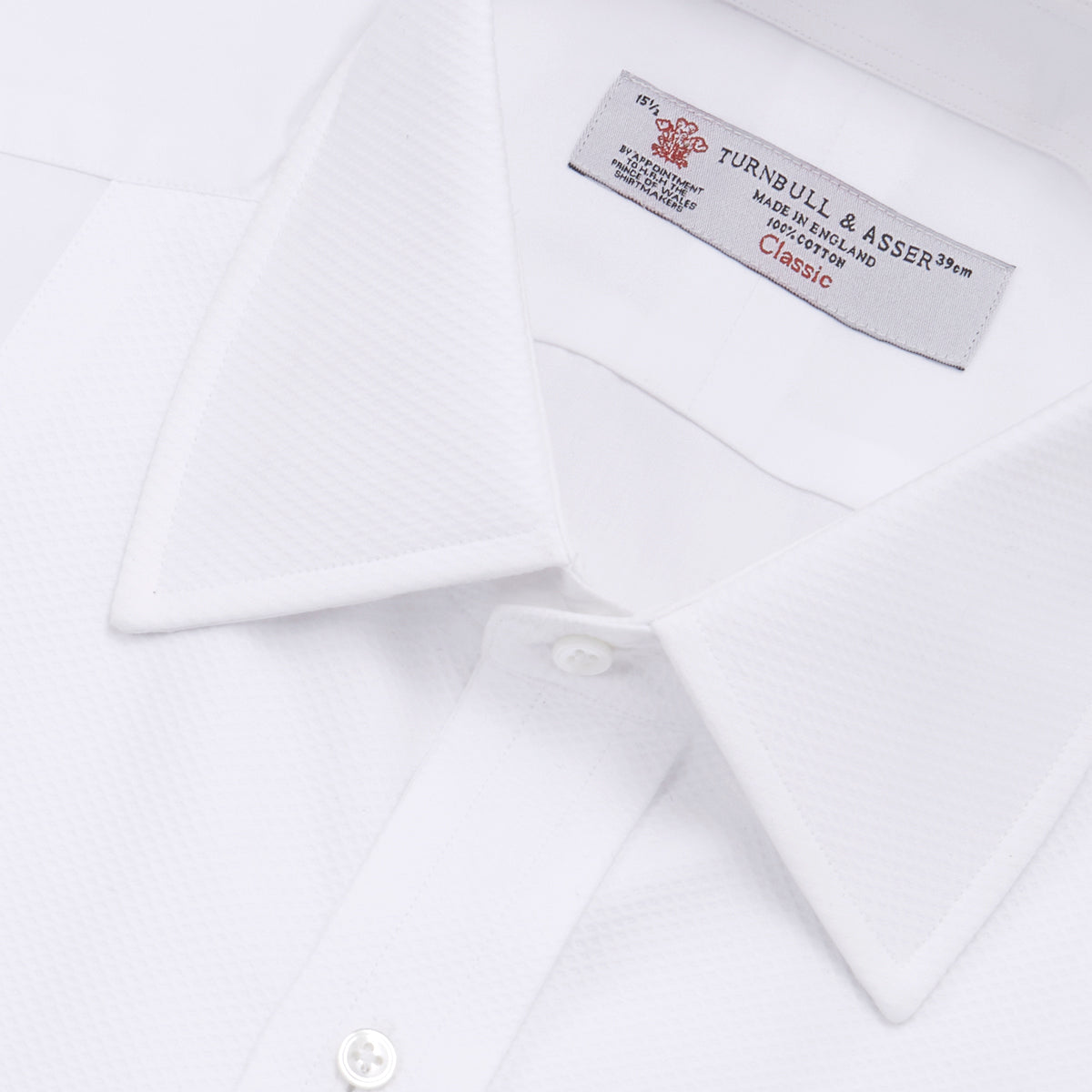 White Marcella Dress Shirt with T&A Collar and Double Cuffs