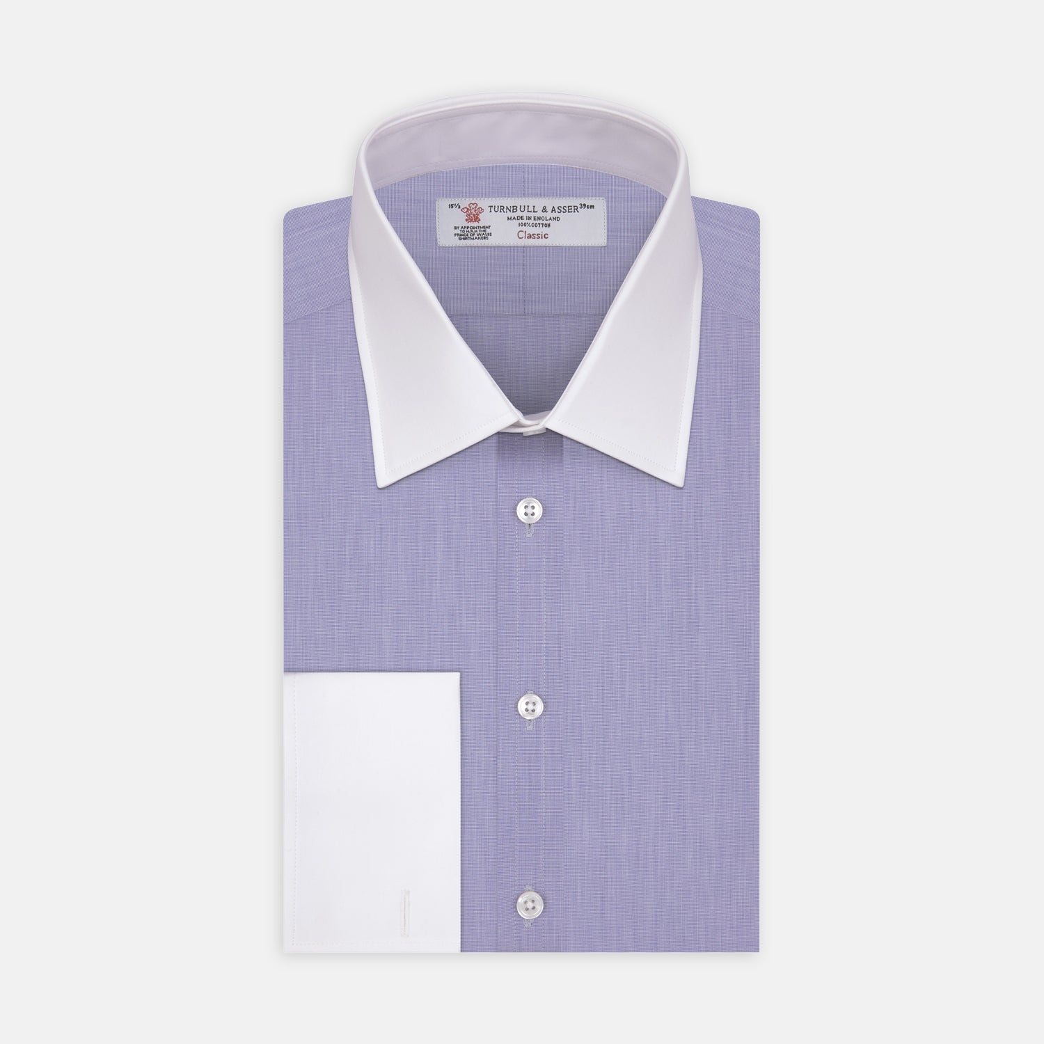 The Wall Street Shirt with White T&A Collar as seen on Gordon Gekko