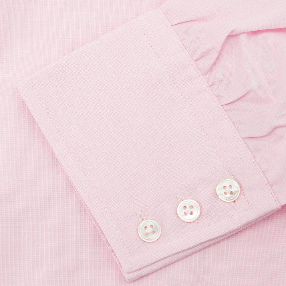 Pink End-on-End Shirt with T&A Collar and 3-Button Cuffs