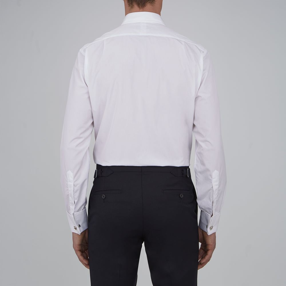 Two-Fold 120 White Shirt with T&A Collar and Double Cuffs