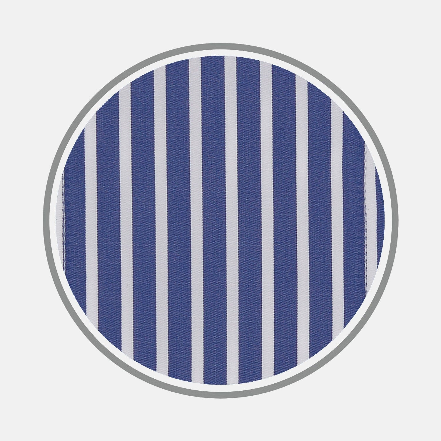 Navy and White Deep Stripe Cotton Fabric