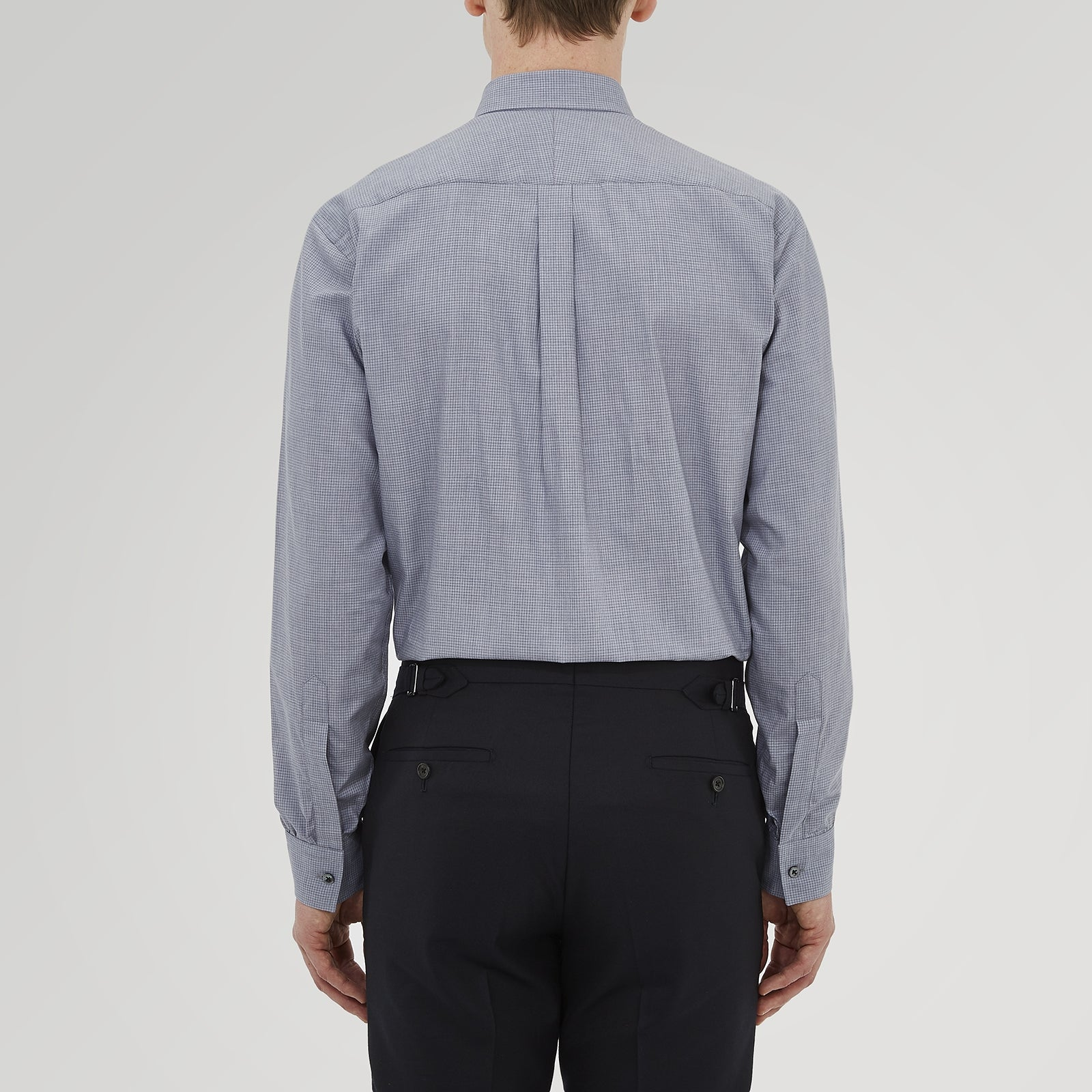 Weekend Fit Grey Cashmerello Light Shirt with Dorset Collar and 1-Button Cuffs