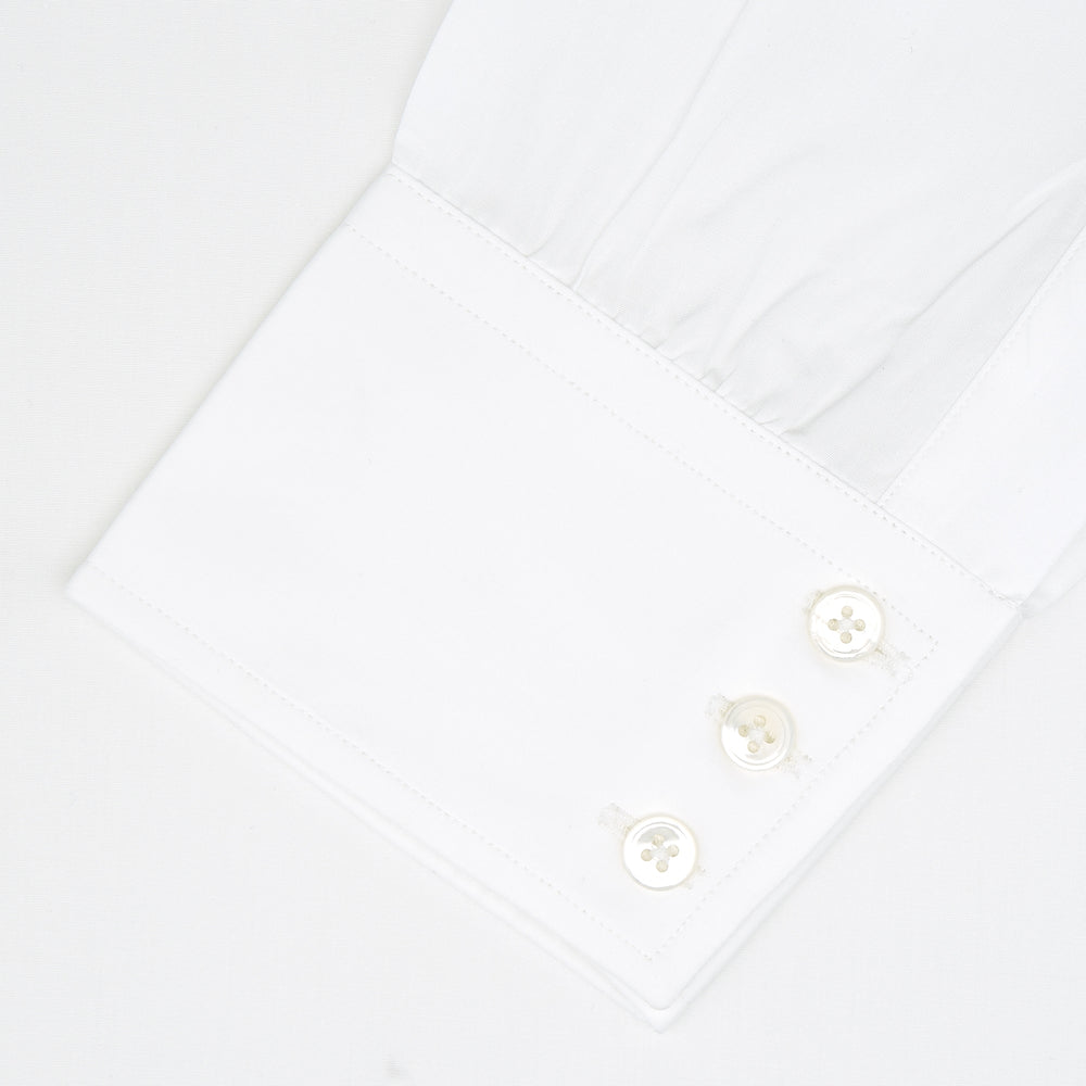 Tailored Fit Two-Fold 120 White Shirt with Kent Collar and 3-Button Cuffs