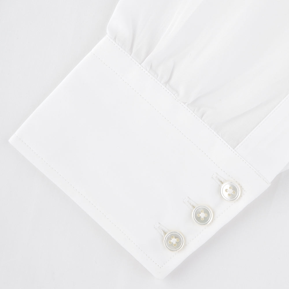Two-Fold 120 White Shirt with Regent Collar and 3-Button Cuffs