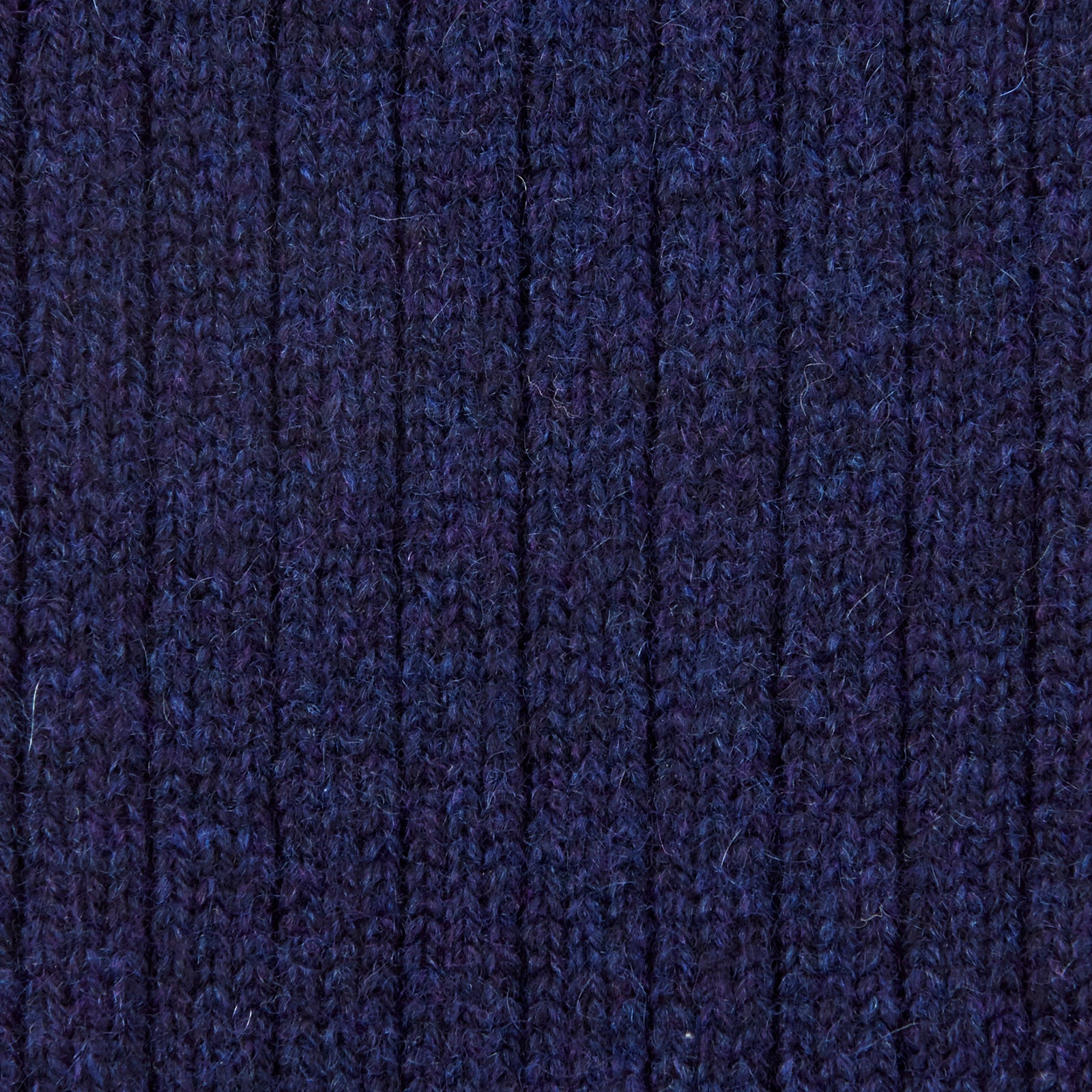 Navy 3/4 Length Cashmere Socks
