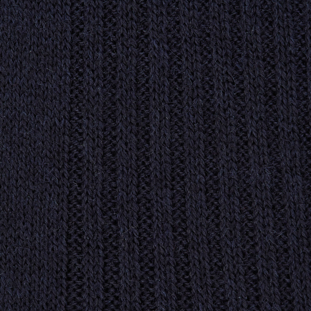 Deep Navy Long Merino Wool Socks
