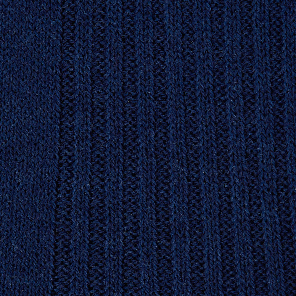 Midnight Blue Long Merino Wool Socks