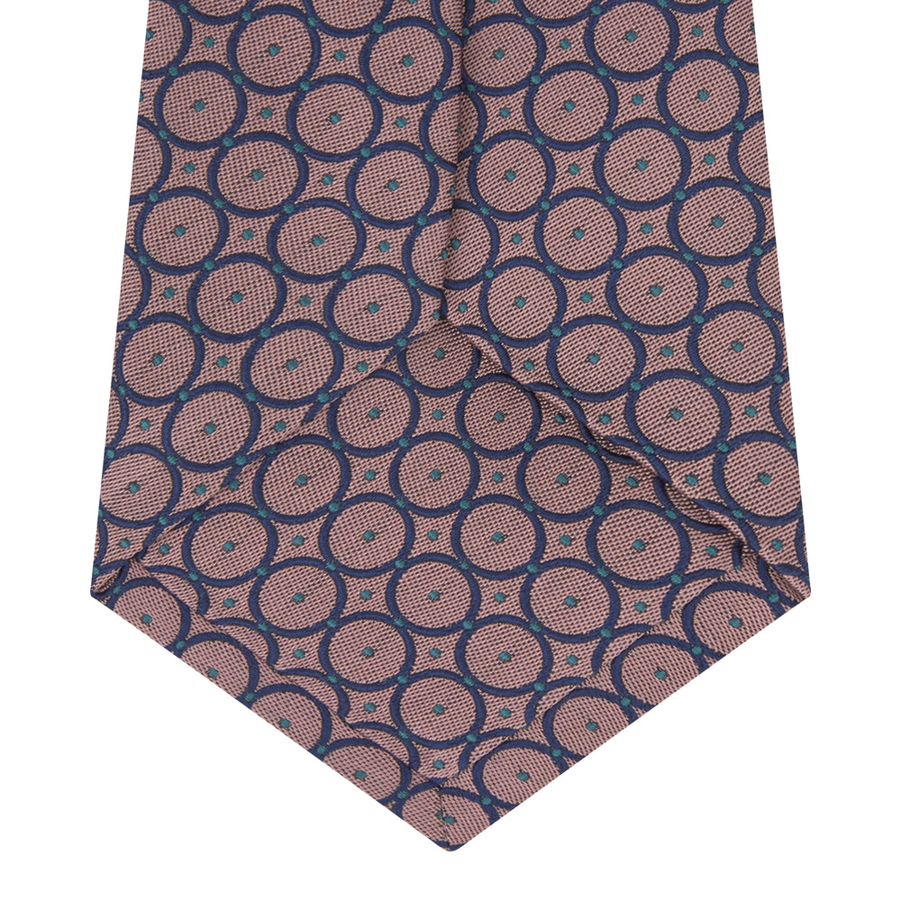 Pink and Blue Shield Silk Tie