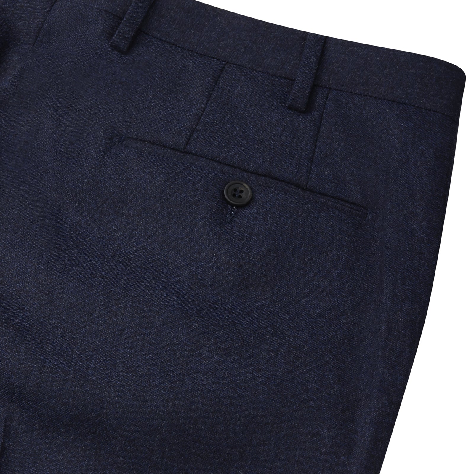 Navy Flannel Trousers
