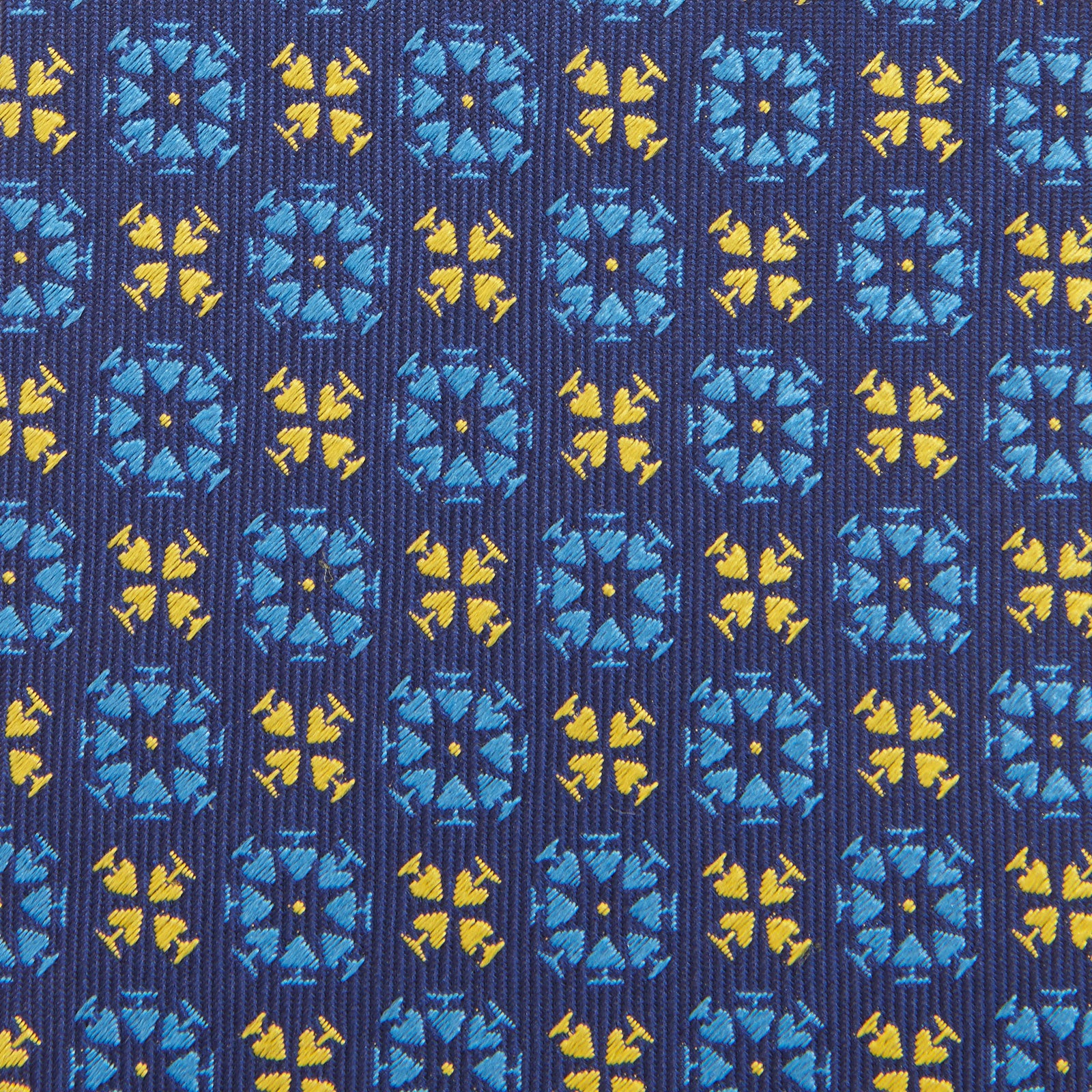 Ace Circles Blue and Yellow Silk Tie