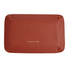 Brown and Yellow Rectangular Leather Travel Tray