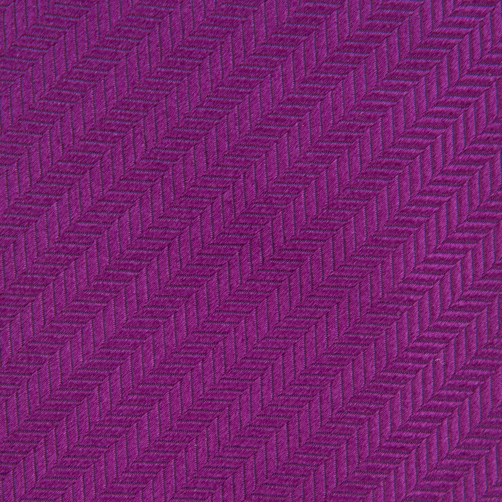 Slim Purple Herringbone Silk Tie