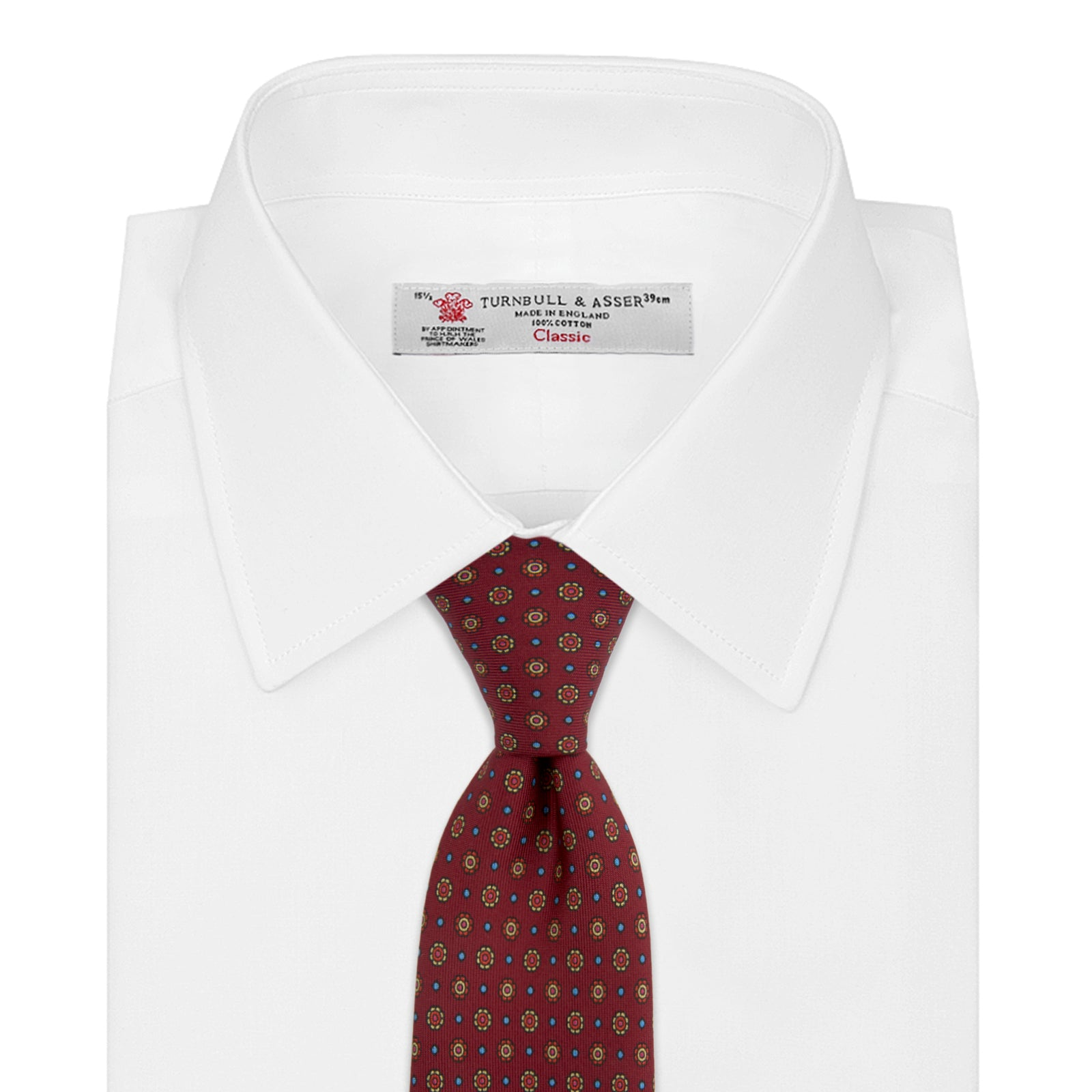 The Great Gatsby Burgundy Printed Silk Tie