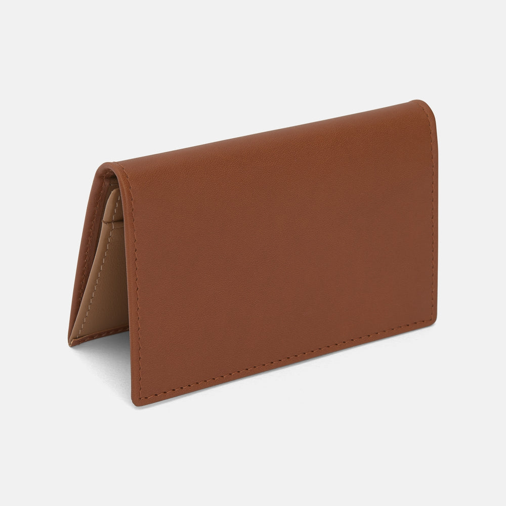 Light Tan Leather Visiting Card Case