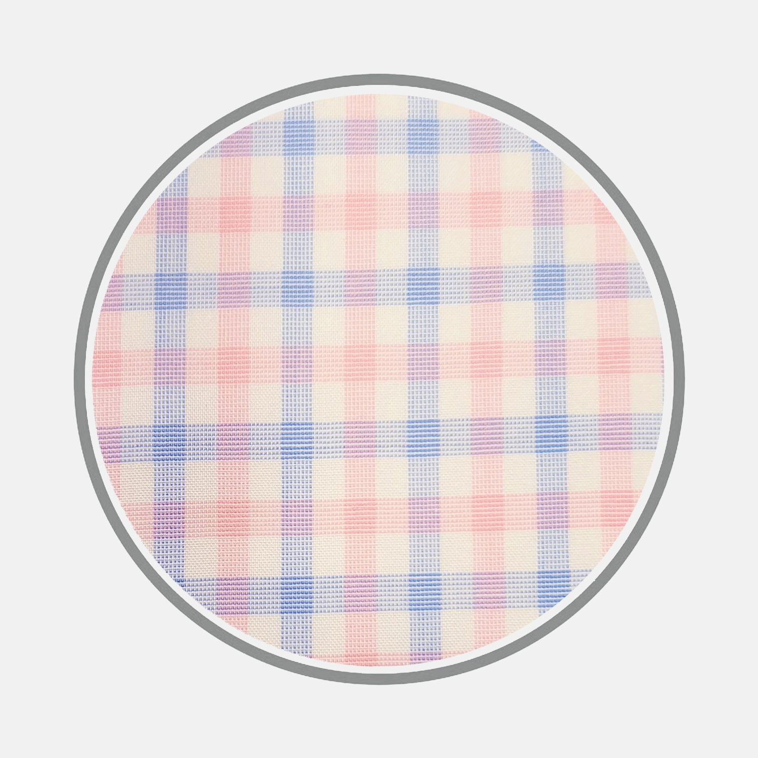 Blue and Pink Multi Check Cotton Fabric
