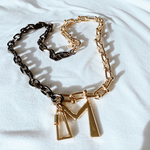 Initial Mix & Match Chain Necklace