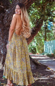 Dreamer in Leopard Midi Dress