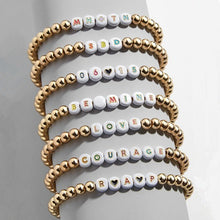 "Load image into Gallery viewer, White Multi Color Disc ""You Name It"" Custom Bracelet"