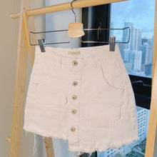 Load image into Gallery viewer, White Denim Skort