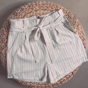 Paper Bag Striped Short