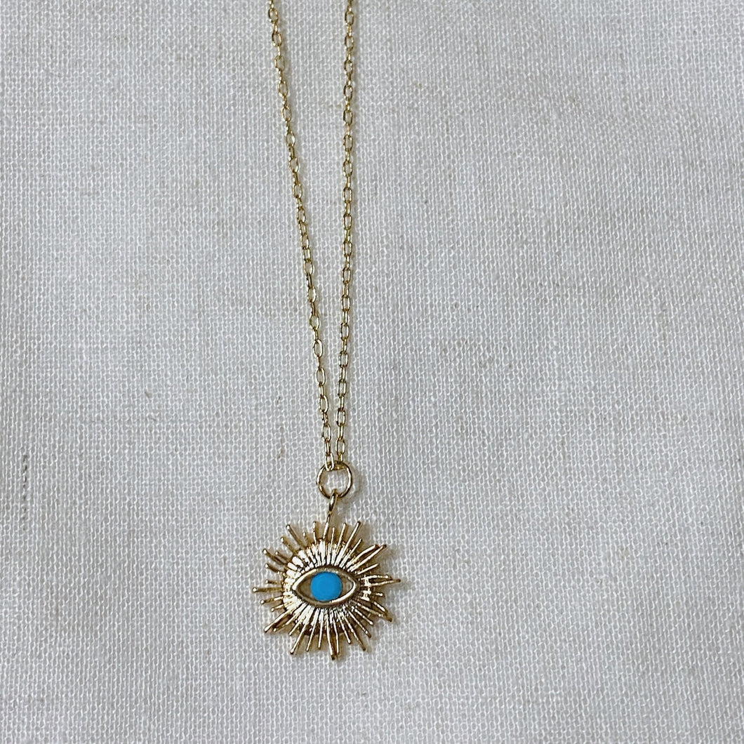 Cute Blue Eye Necklace