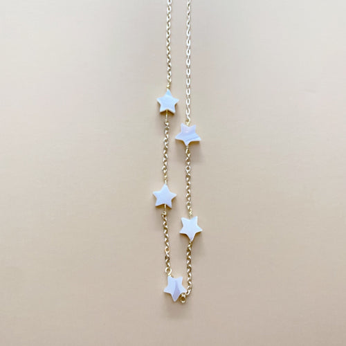 Mother of Pearl Stars Choker
