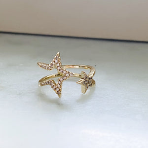 Two Stars Ring