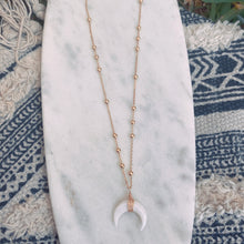 Load image into Gallery viewer, Love Crescent horn necklace