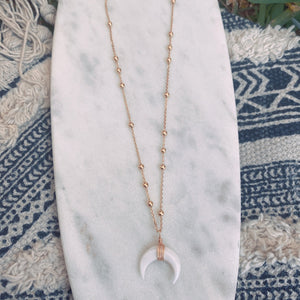 Love Crescent horn necklace