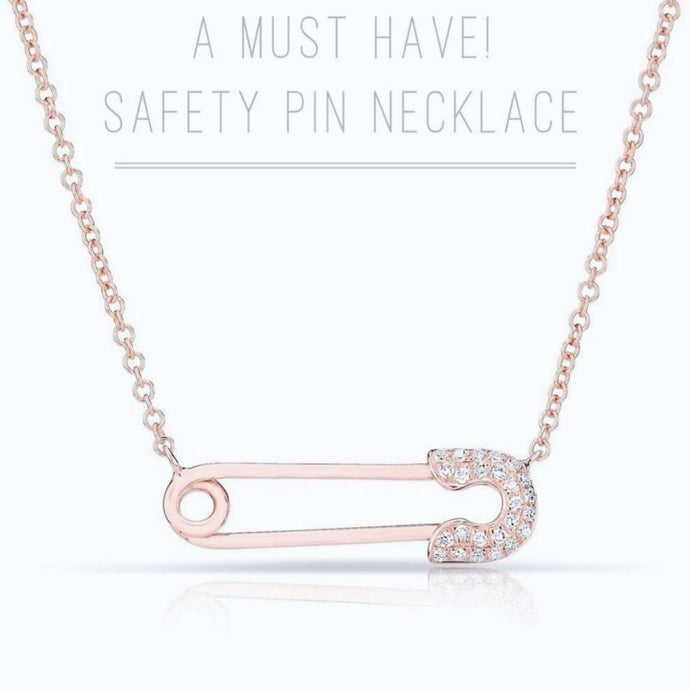 Safety Pin Necklcae