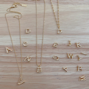 "Little ""bamboo"" initial necklace"