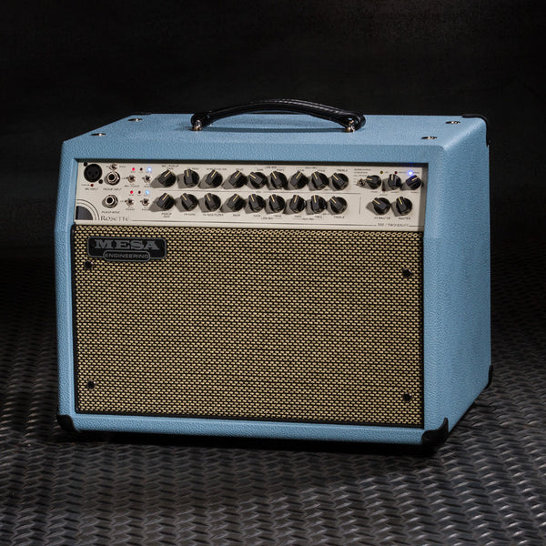 MESA/Boogie Rosette 300 / Two:Eight Acoustic Combo - Custom Baby Blue Bronco / Cream & Black Grille Grille