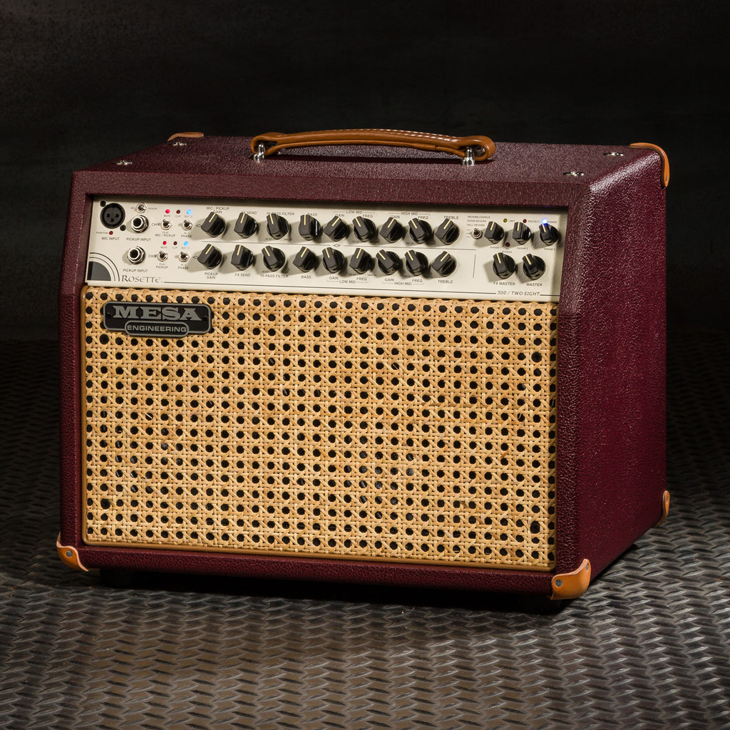 MESA/Boogie Rosette 300 / Two:Eight Acoustic Combo - Custom British Cabernet Bronco / Wicker Grille